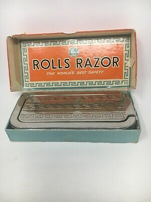 Vintage Imperial No. 2 Rolls Razor Nickel-Plated Made in ENGLAND With Box Ppw