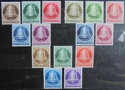GERMANY (Berlin) 1951-53 Freedom Bell, 3 Complete Sets 15 m/h