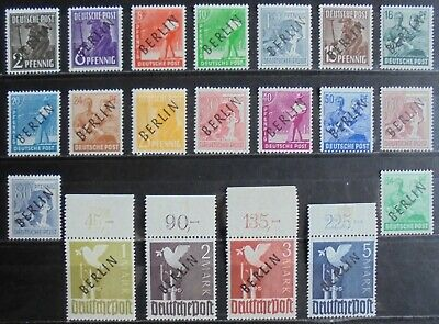 GERMANY (Berlin) 1948 Pictorial Issue, Black Overprint Complete Set of 20 m/h