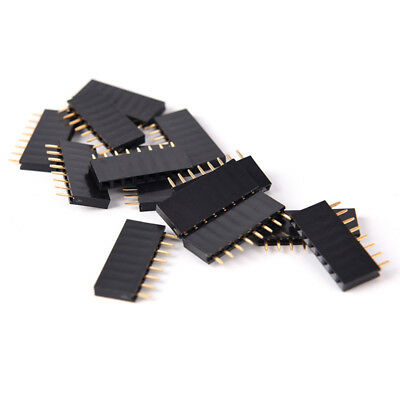 10pcs 8 Pin Female Tall Stackable Header Connector Socket For Arduino Shield OQ