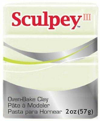 SCULPEY III - Polymer Clay - 57g - GLOW IN THE DARK
