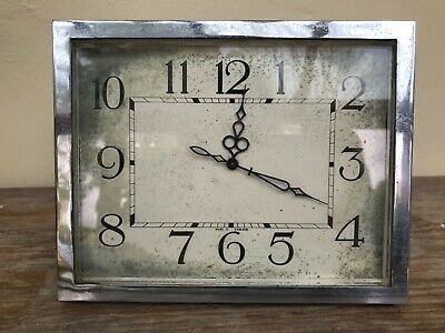 Vintage Art Deco Mantle Clock ABEC Bevellled Glass