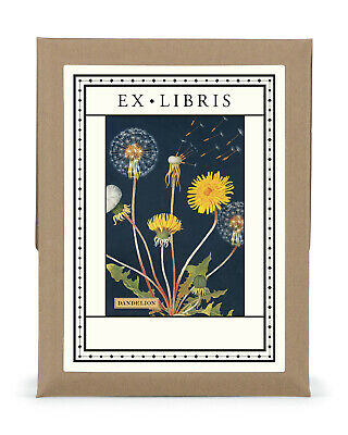 Cavallini & Co. Dandelion Ex Libris Bookplate Set