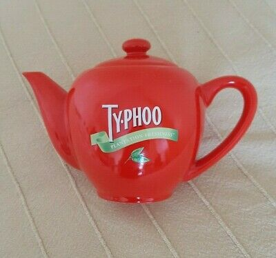 Typhoo Teapot For One In Red Vintage Collectable