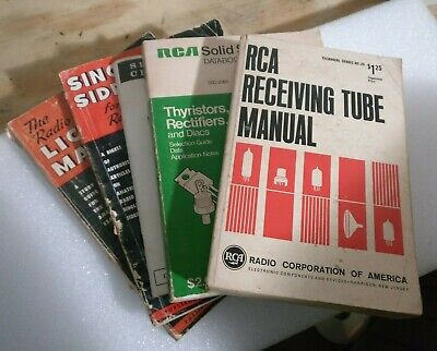 Lot of Vintage EE Electronics Books Manuals RCA Tube Radio Solid State