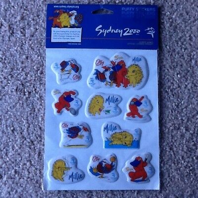 Sydney 2000 Olympics Puffy Stickers - New - Collectable