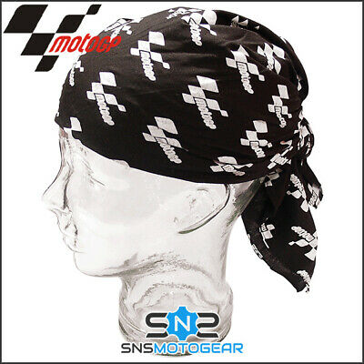 Official MotoGP Motorcycle Motorbike Scooter Bandana/Neck Scarf - Classic Black