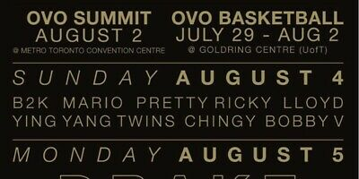 Aug 4 - Ovo Fest 2 Tickets Side By Side