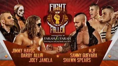 AEW Fight For The Fallen DVD With The Buy In Preshow All Elite Wrestling