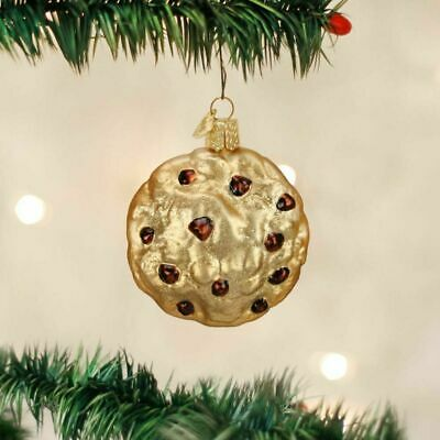 YELLOW CHRISTMAS BULB LIGHT OLD WORLD CHRISTMAS GLASS ORNAMENT NWT  32241