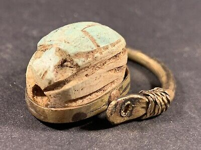 Very Beautiful Poss Gold Guild Ancient Egyptian Scarab Ring Circa 990-660Bce