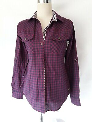 Lee COOPER Ladies Purple Check Long Sleeved Shirt Size 8