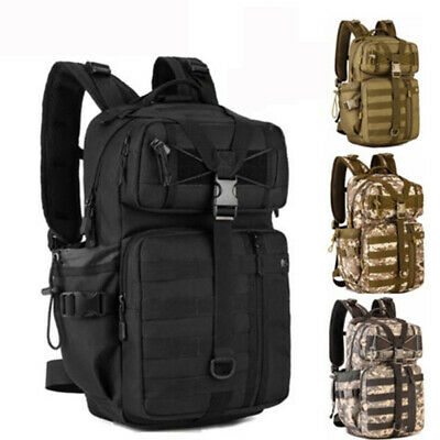 30L Outdoor Hiking Trekking Bag Army Military Tactical Rucksack MOLLE Backpack