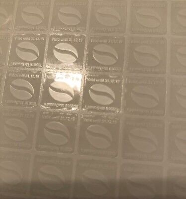 Mcdonalds coffee vouchers 600 sticker (100 Cups) UV Ultra violet Stickers