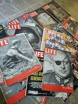 10 Vintage LIFE MAGAZINES 1930 1968 Assorted Lot 10 Temple Taylor China Ads