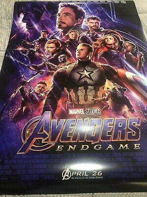 Avengers Endgame Double Sided DS Movie Theater Poster Final 27 x 40 AUTHENTIC C