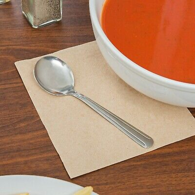 """(72-Pack) 5 7/8"""" Silver Windsor Stainless Steel Restaurant Quality Soup Spoons"""