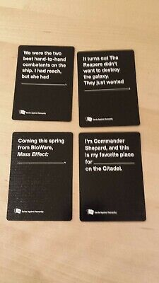 Cards Against Humanity Mass Effect Booster opened complete rare card game