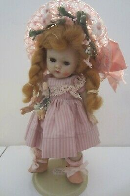 Vintage Vogue Ginny Strung Doll&Outfit: Kinder Pink Acetate&Fuzzy Tied Shoes