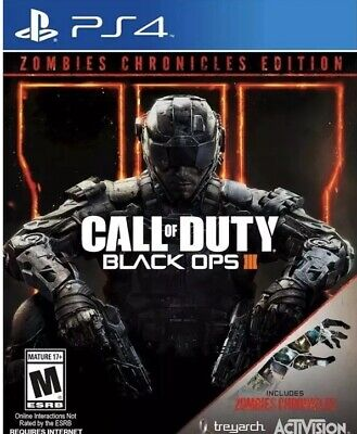 Call of Duty: Black Ops 3 III Zombies Chronicles Edition PS4 (PlayStation 4)NEW
