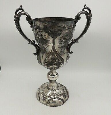 Antique Loving Cup Trophy Silverplate 1887 Sports Philip Ashberry