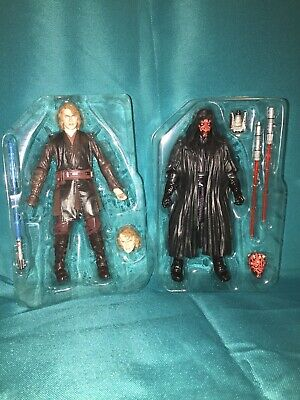 Star Wars Anakin Skywalker Darth Maul Archive Black Series Loose Complete RARE!