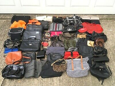 JOB LOT x150 HANDBAGS CLUTCHES PURSES BAGS - FILM THEATRE TV PROPS BOOTSALE USED