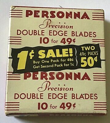 NOS PERSONNA Vintage Collectible Razor Blades BB27 PRECISSION Double Edge Packs