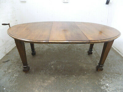 antique,edwardian,oak,oval,extendable,wind out,dining table,square legs,table