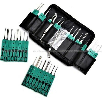 lockpicking locksmith lock pick set tools unlocking opener kit de crochetage PRO