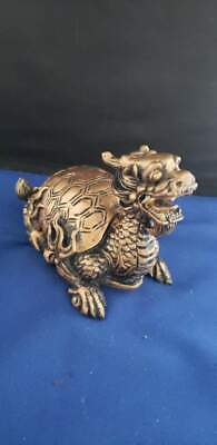 "Dragon Figurine Statue Feng Shui for Luck & Success 4.5""L 3.75""H"