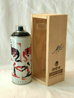 Obey Cut It Up Montana Spray Can Beyond the Streets SIGNED Shepard Fairey InHand
