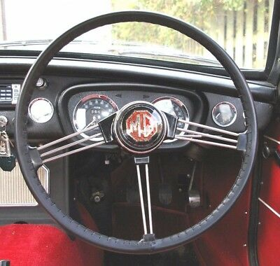 Leather Steering Wheel Cover / Glove ~ Mg Midget Mgb Mgc Mgb V8 Mgb Gt