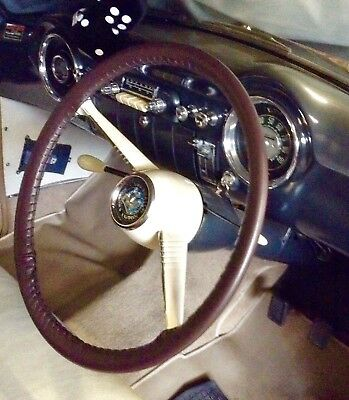 LEATHER STEERING WHEEL COVER / GLOVE VAUXHALL WYVERN VELOX CRESTA  L & E Series