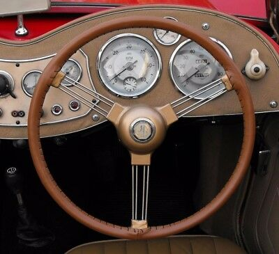 Leather Steering Wheel Cover / Glove ~ Singer Roadster 4A 4Ab 4Ac 4Ad Le Mans