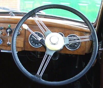 Classic Finest Leather Steering Wheel Covers / Gloves - Jowett Javelin & Jupiter