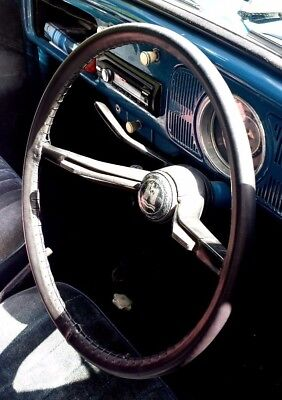Traditional Leather Steering Wheel Cover / Glove ~ Vw Beetle  Variant  Fastback