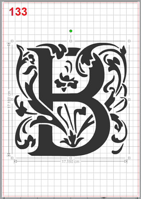 Beautiful Alphabet Letter B Stencil MYLAR A4 sheet strong resuable Art Wall Deco