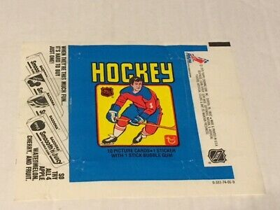 Vintage Official 1979-80 Topps Hockey Wax Pack Wrapper
