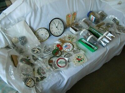 Clock parts numerous hands/faces/numbers/hardware/misc  all good cond.