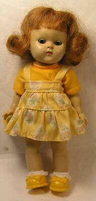 """1950`S Vintage Vogue Ginny Doll-7-1/2""""-Red Hair-Outfit & Shoes-Strung, Painted"""