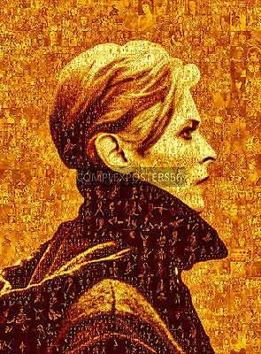 LARGE PHOTO MOSAIC POSTERS IN VARIOUS COLOURS - DAVID BOWIE'S ALBUM 'LOW'  No 19