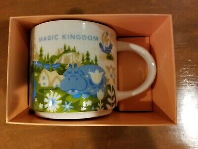 Magic Kingdom Starbucks You Are Here Collection Mug Disney World Parks