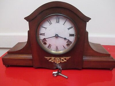 "Beautiful  Antique- Vintage  ""Seth Thomas"" Mantle Clock  Run And  Chime W/Key"