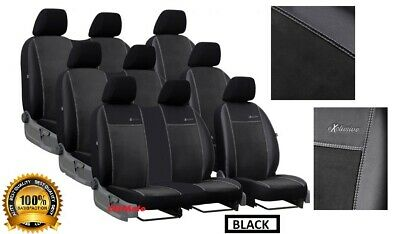 ECO LEATHER TAILORED SEAT COVERS FOR VOLKSWAGEN T6 5 SEATS 2015 ONWARDS