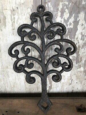 "Cast Iron Wilton Trivet Almost 9"" Tree Shape Black Rustic"