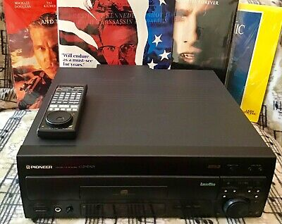 PIONEER CLD-D703 LASERDISC PLAYER + REMOTE+4 Laserdiscs Good Working Condition