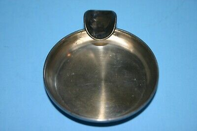 Antique 800 Silver Ashtray With 1910 Portugese Reis Coin Hallmarks