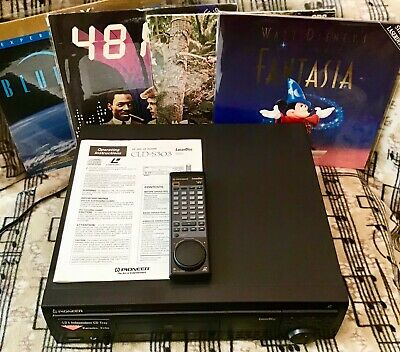Pioneer Cld-S303 Laserdisc Player+Remote+Movies- Great Starter Pack Or Back Up