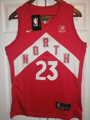 New Fred Vanvleet Jersey - Red and White North - Medium - With Finals Patch